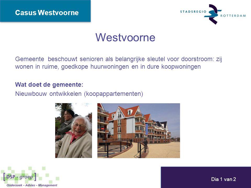 Westvoorne Gemeente beschouwt senioren als belangrijke sleutel voor doorstroom: zij wonen in ruime, goedkope huurwoningen en in dure koopwoningen Wat