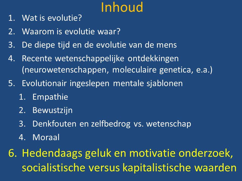 Inhoud 1.Wat is evolutie. 2.Waarom is evolutie waar.