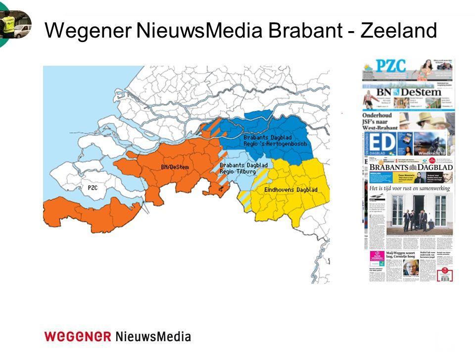 Het bereik van het Brabants Dagblad Bereik vs.