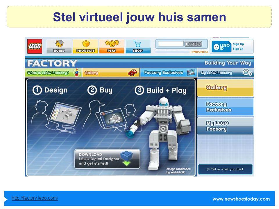 Stel virtueel jouw huis samen http://factory.lego.com/