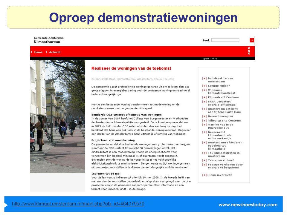 Oproep demonstratiewoningen http://www.klimaat.amsterdam.nl/main.php obj_id=464379570