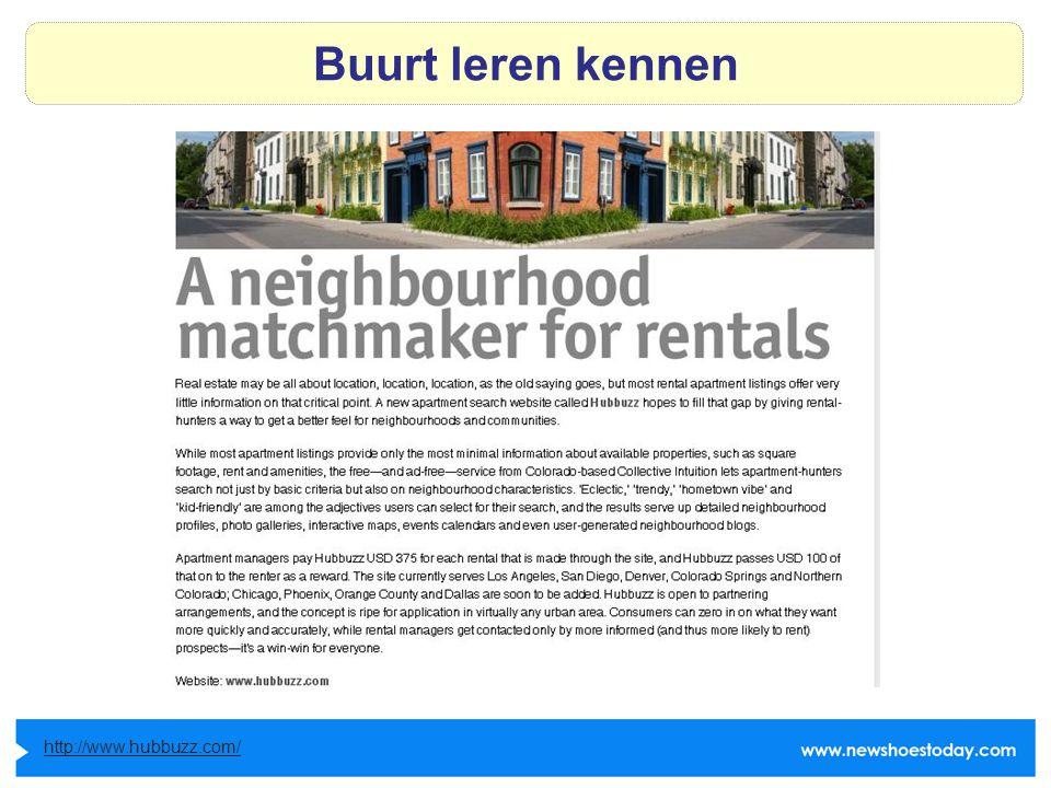 Buurt leren kennen http://www.hubbuzz.com/