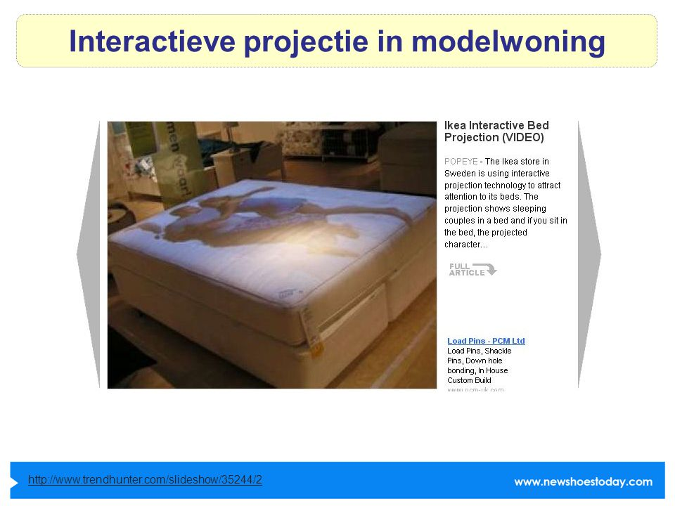 Interactieve projectie in modelwoning http://www.trendhunter.com/slideshow/35244/2