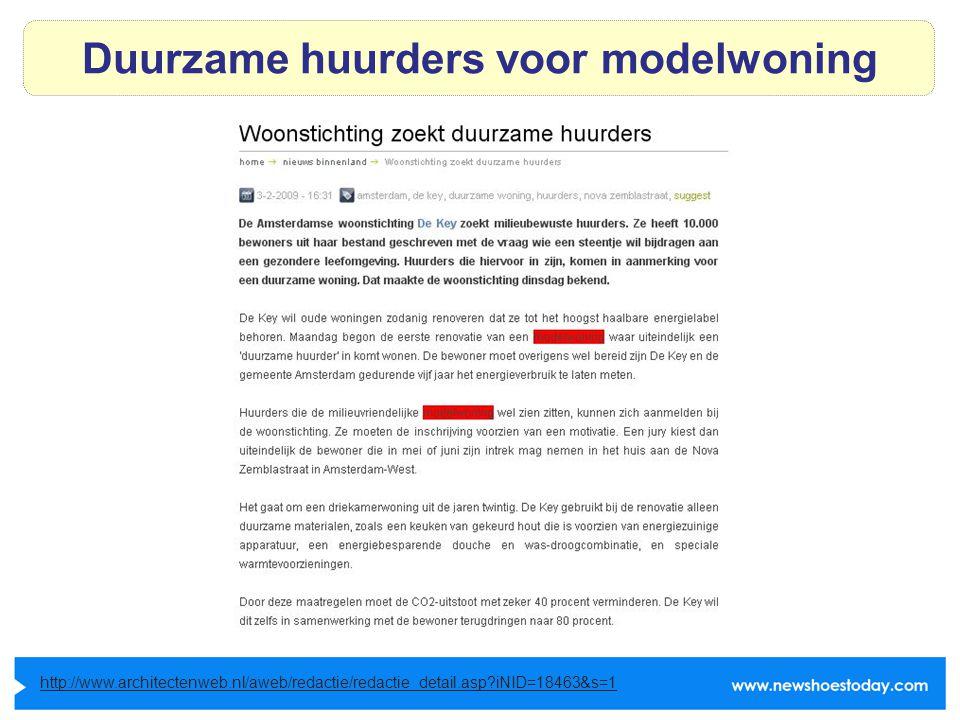 Duurzame huurders voor modelwoning http://www.architectenweb.nl/aweb/redactie/redactie_detail.asp iNID=18463&s=1