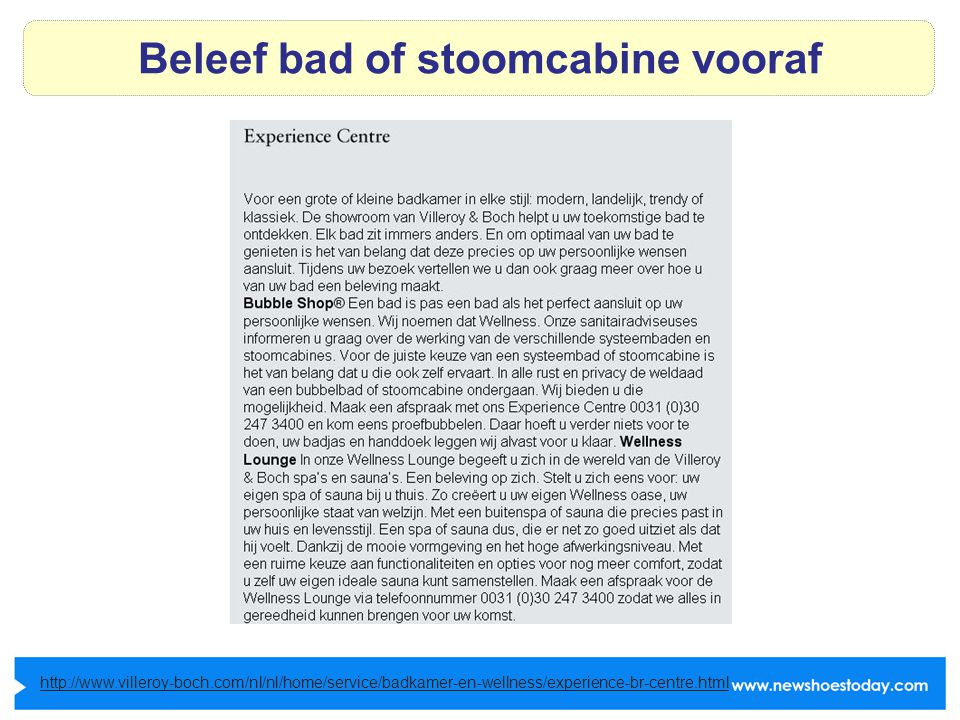 Beleef bad of stoomcabine vooraf http://www.villeroy-boch.com/nl/nl/home/service/badkamer-en-wellness/experience-br-centre.html