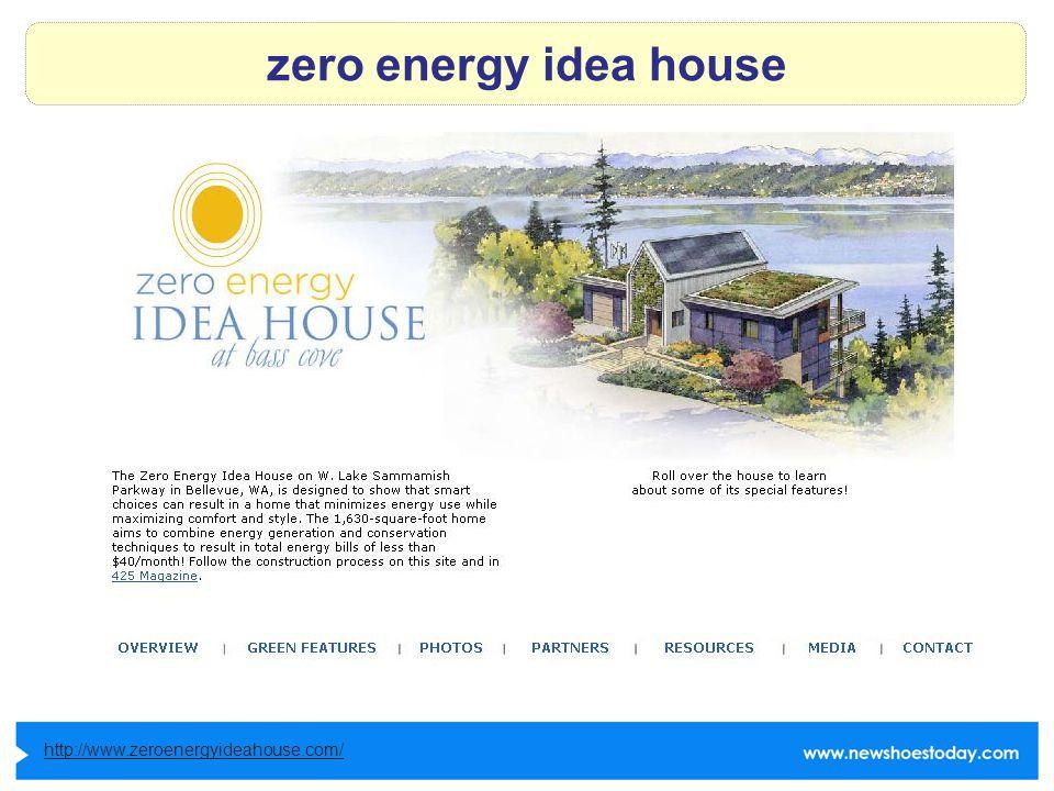 zero energy idea house http://www.zeroenergyideahouse.com/