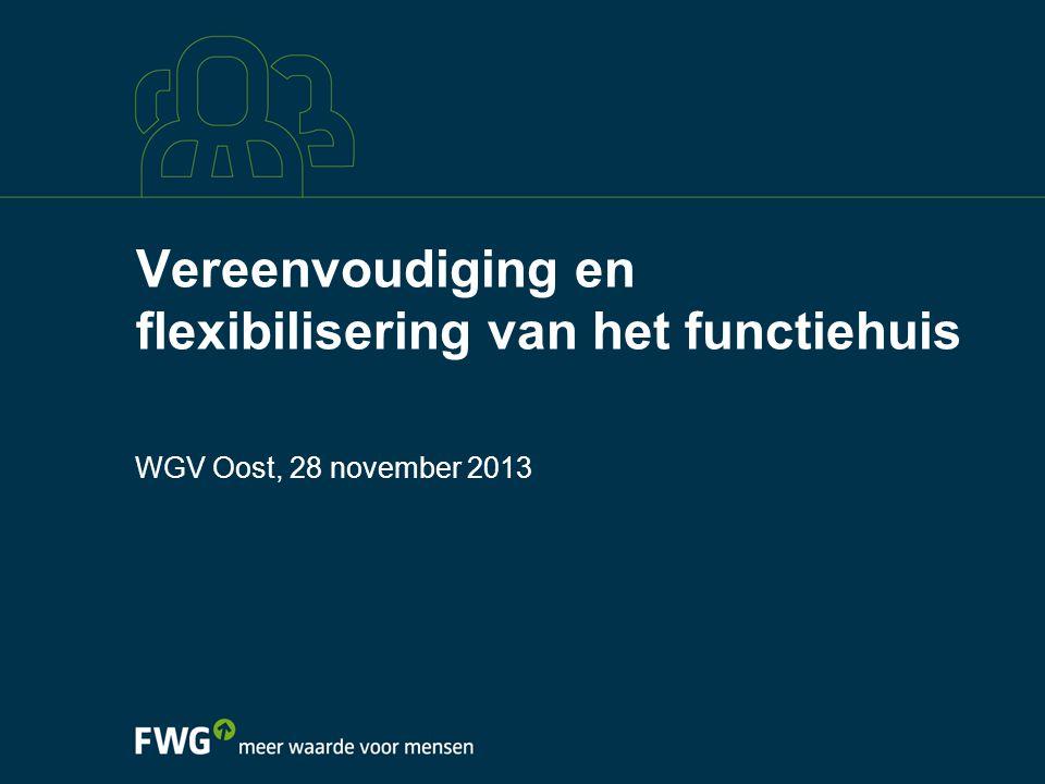 Vereenvoudiging en flexibilisering van het functiehuis WGV Oost, 28 november 2013