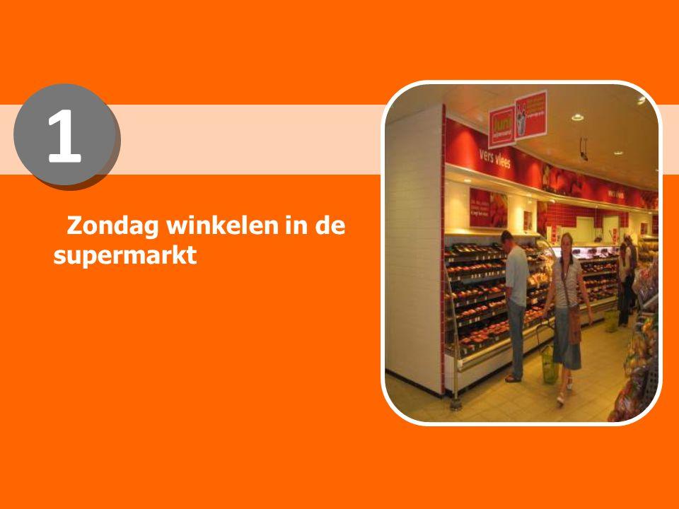 1 1 Zondag winkelen in de supermarkt