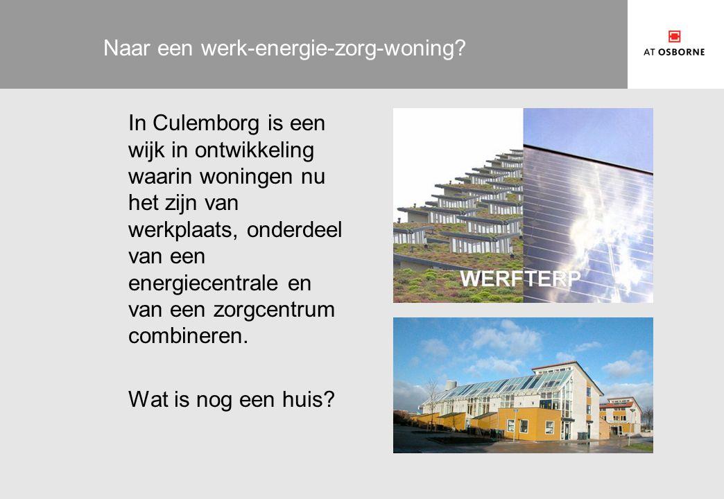 Naar een werk-energie-zorg-woning.