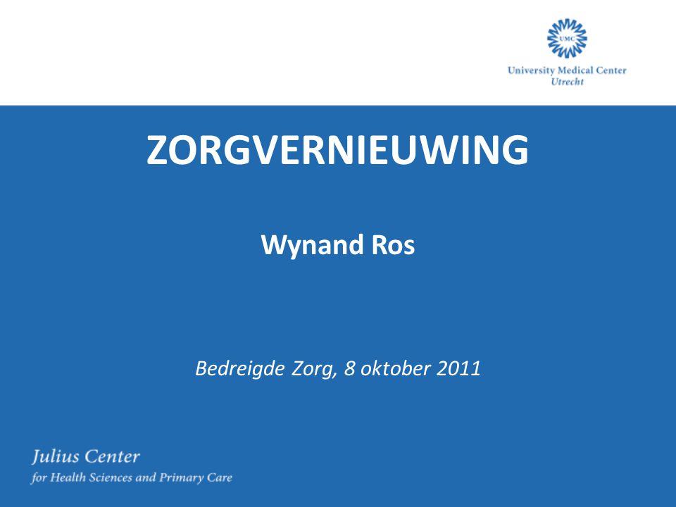 ZORGVERNIEUWING Wynand Ros Bedreigde Zorg, 8 oktober 2011