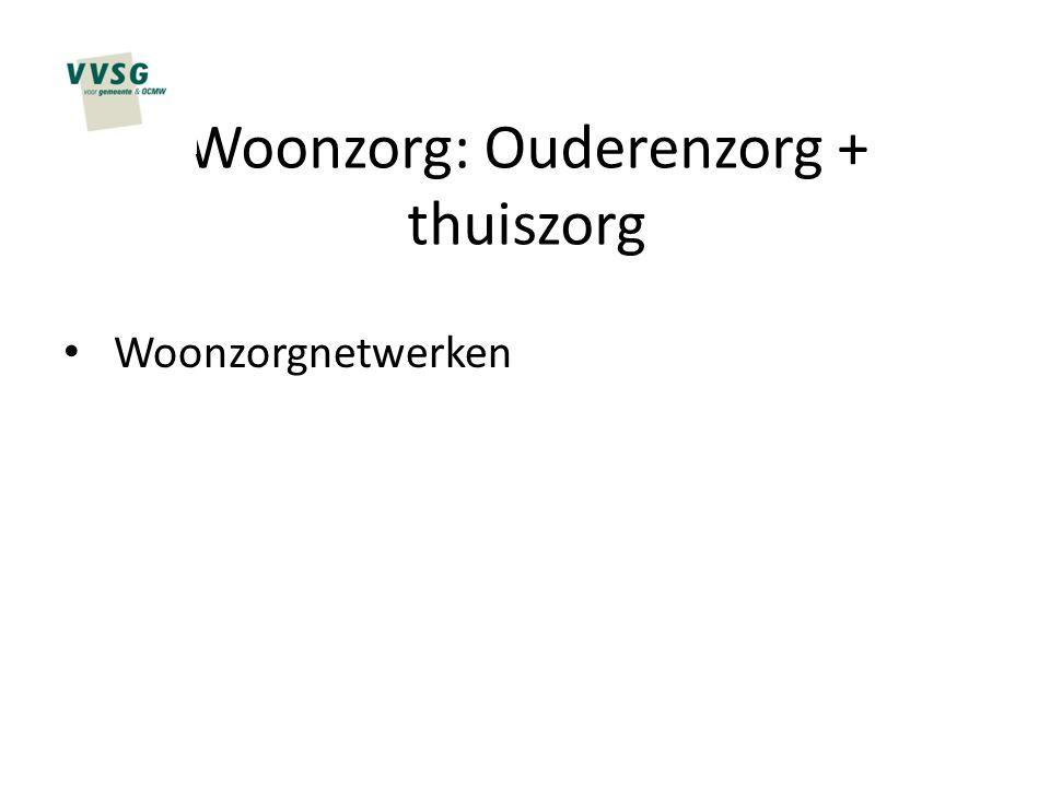 Woonzorg: Ouderenzorg + thuiszorg Woonzorgnetwerken