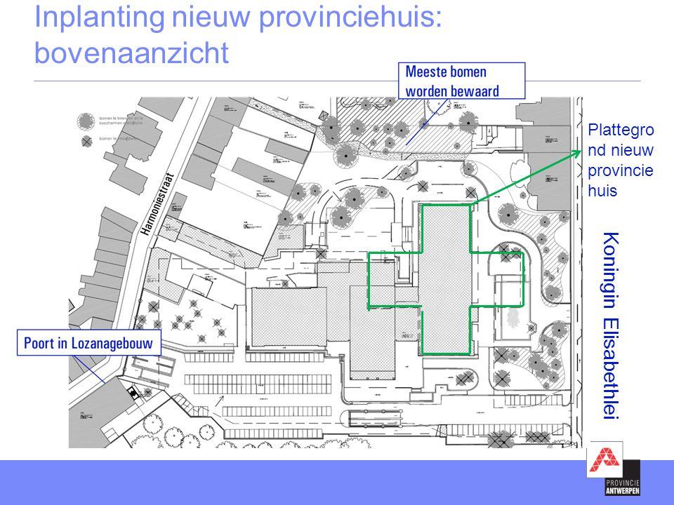 Koningin Elisabethlei Plattegro nd nieuw provincie huis