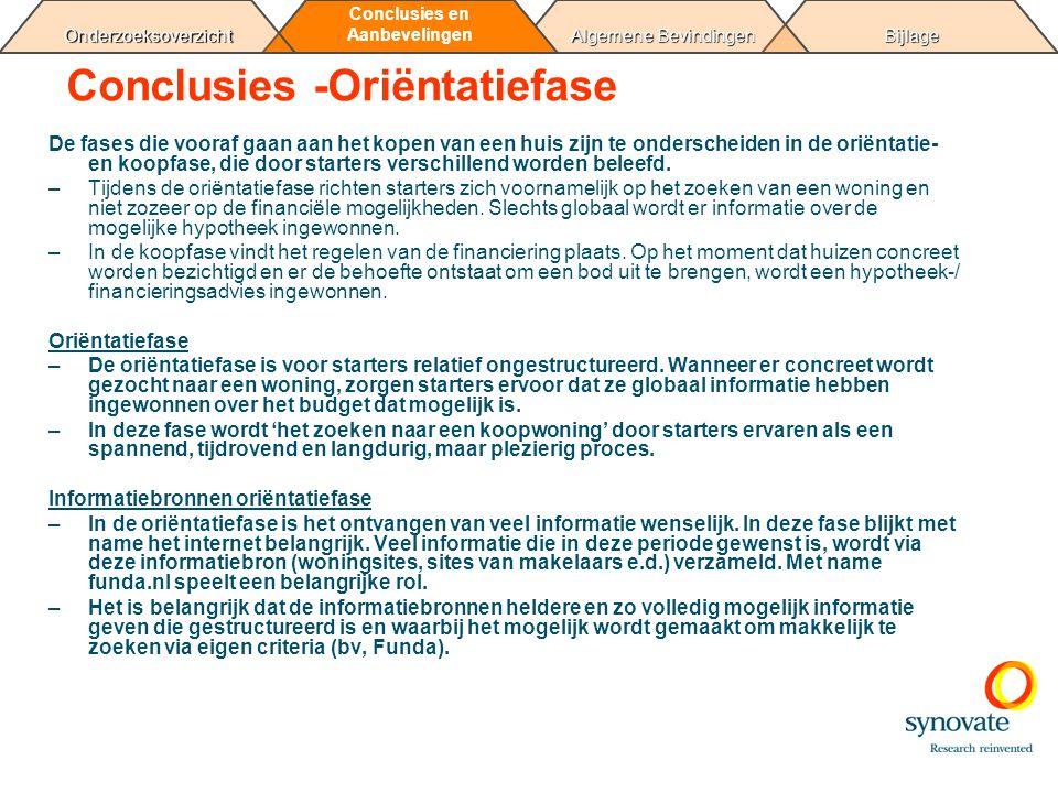 BijlageAlgemene Bevindingen Conclusies en Aanbevelingen Onderzoeksoverzicht Motivatie koopwoning zoeken/kopen Een eigen koopwoning Eigen bezit 1.