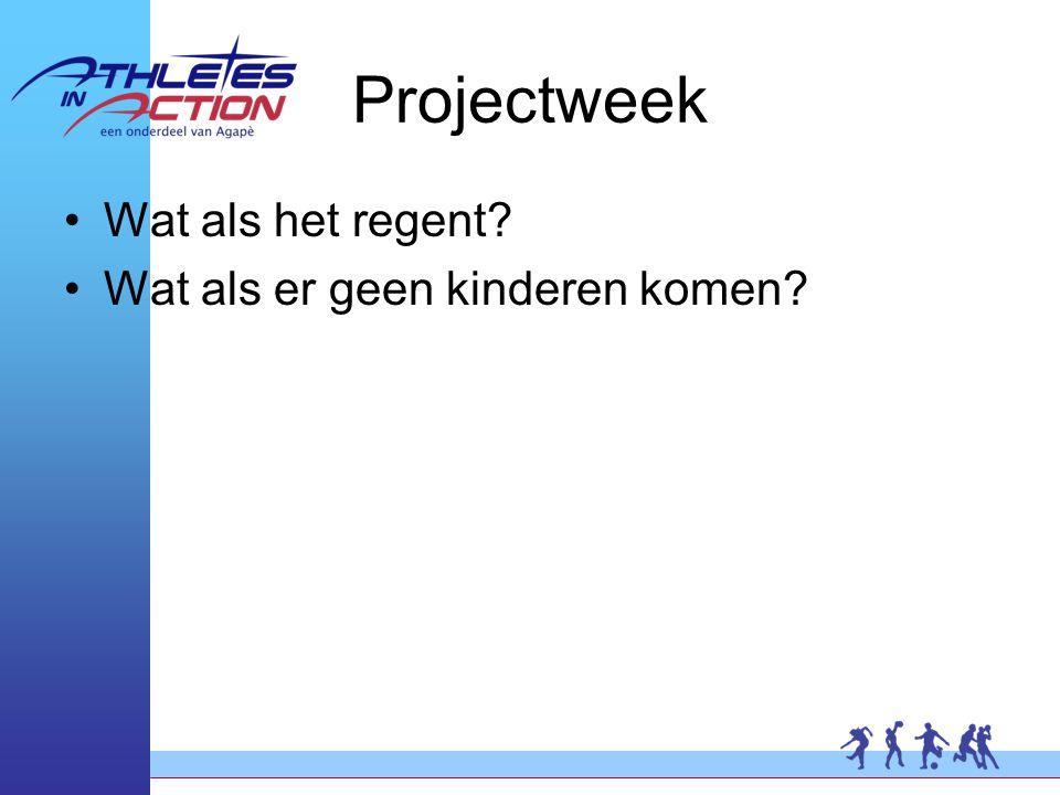 Projectweek Wat als het regent Wat als er geen kinderen komen