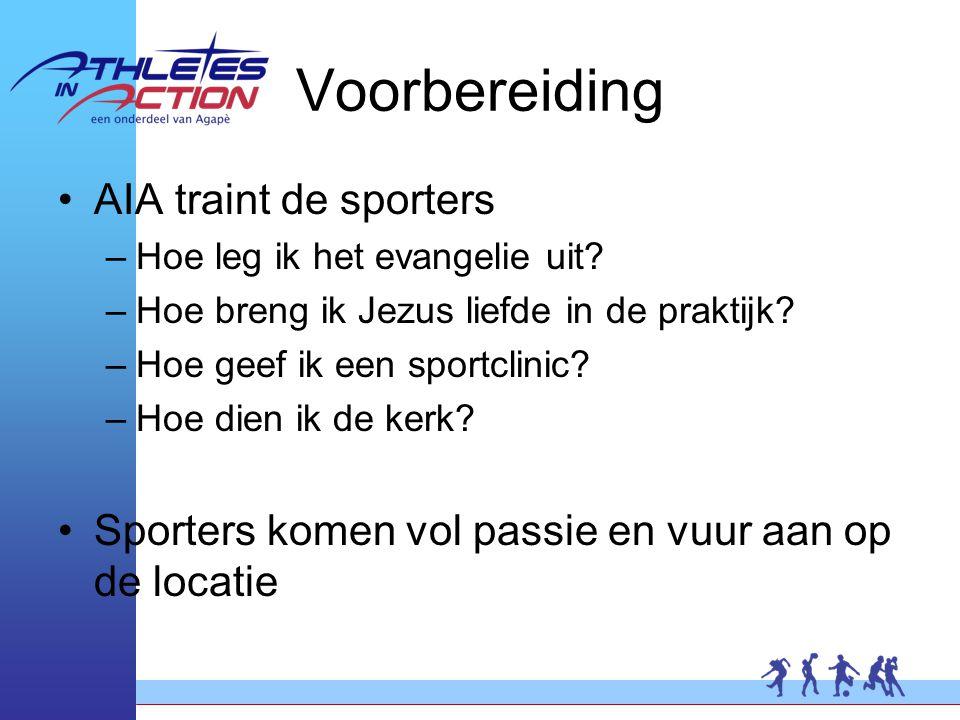 Voorbereiding AIA traint de sporters –Hoe leg ik het evangelie uit.