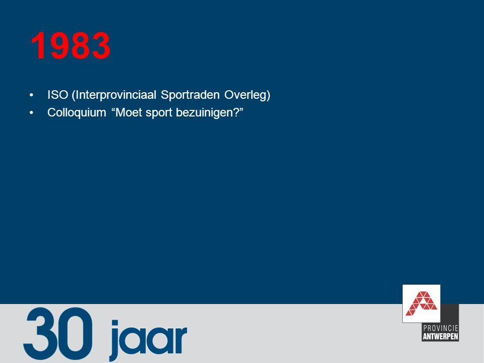 """1983 ISO (Interprovinciaal Sportraden Overleg) Colloquium """"Moet sport bezuinigen?"""""""