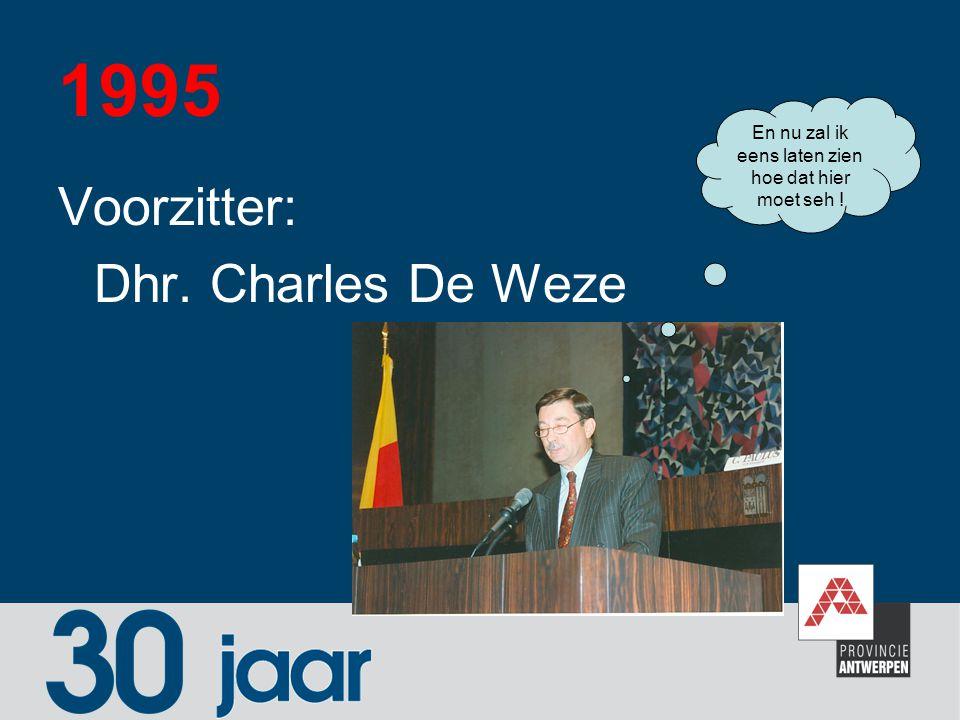1995 Voorzitter: Dhr. Charles De Weze En nu zal ik eens laten zien hoe dat hier moet seh !