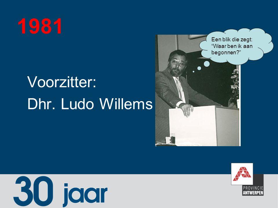 """1981 Voorzitter: Dhr. Ludo Willems Een blik die zegt: """"Waar ben ik aan begonnen?"""""""