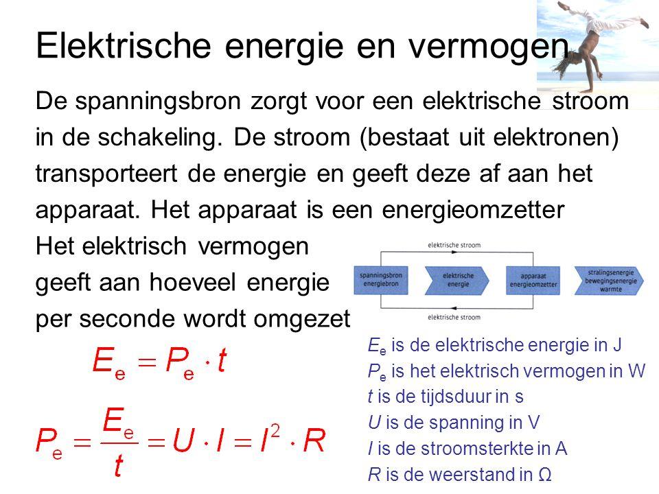 Weerstand Temperatuur- en lichtgevoelige weerstanden: een rechte lijn door de oorsprong, dus het is een recht evenredig verband: U (V) I (A) Dit noemen we de wet van Ohm Als de weerstand constant is, spreken we van een ohmse weerstand (R=U/I) Het U,I-diagram van een constantaandraad is