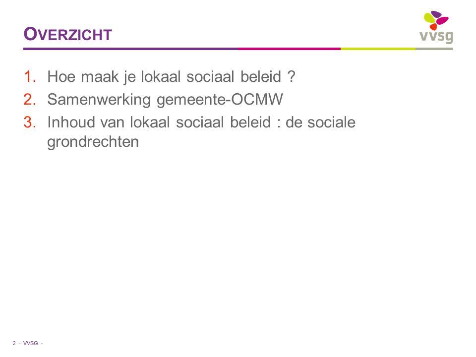 VVSG - O VERZICHT 1.Hoe maak je lokaal sociaal beleid .