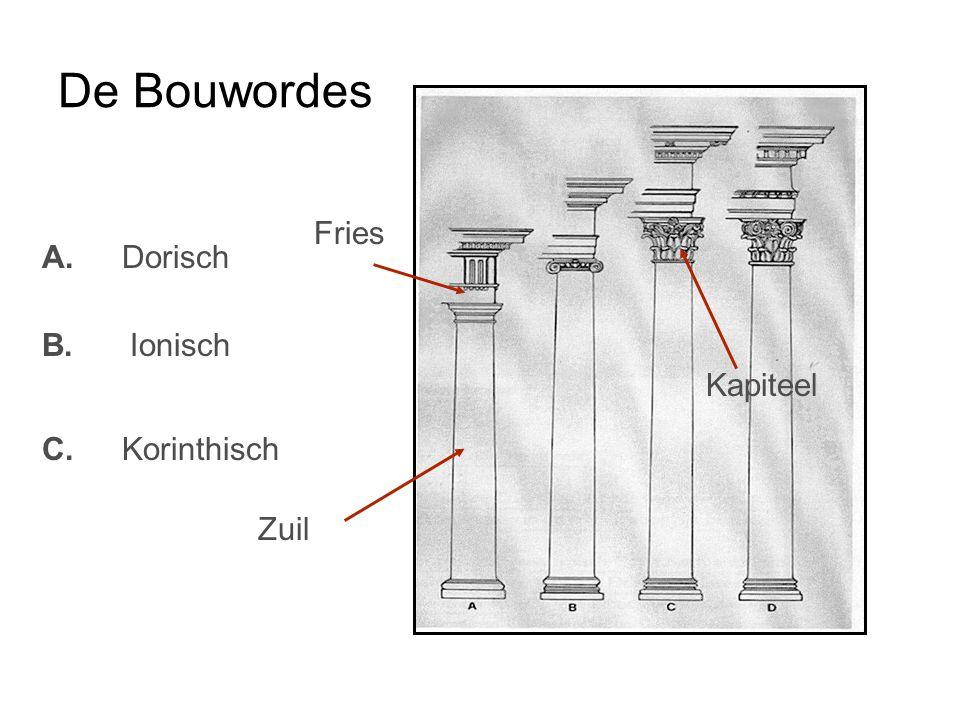 De Bouwordes A. B. C. Dorisch Ionisch Korinthisch Zuil Fries Kapiteel