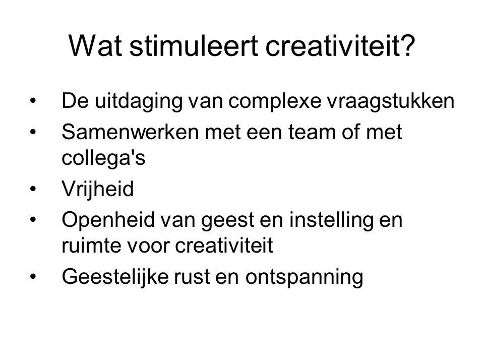 Wat stimuleert creativiteit.