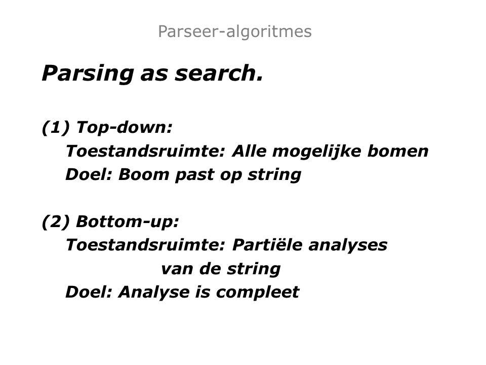 Huiswerk: Implementeer top-down parser