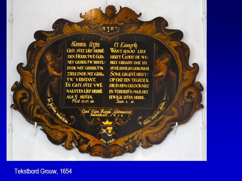 Tekstbord Grouw, 1654