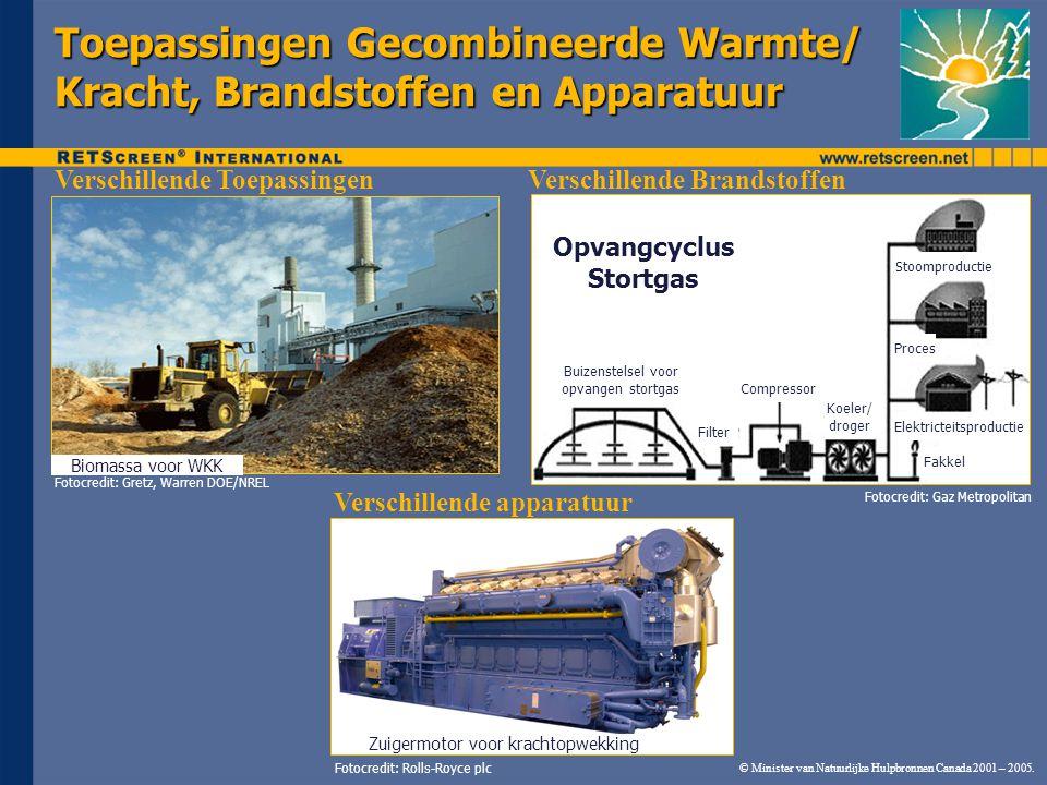 © Minister van Natuurlijke Hulpbronnen Canada 2001 – 2005. Toepassingen Gecombineerde Warmte/ Kracht, Brandstoffen en Apparatuur Fotocredit: Rolls-Roy