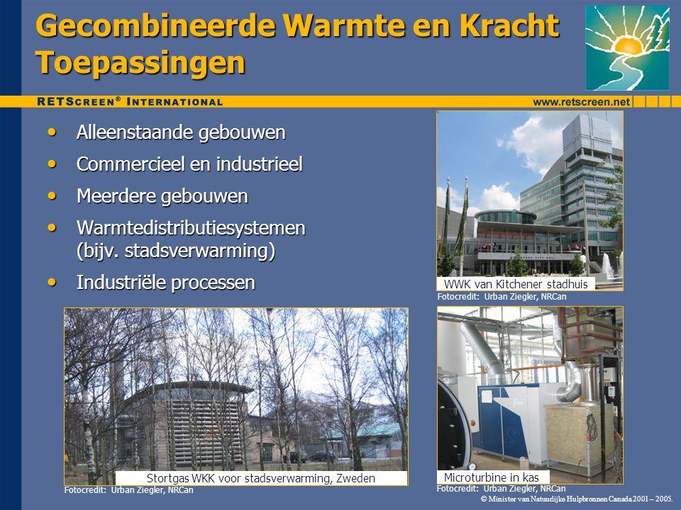 © Minister van Natuurlijke Hulpbronnen Canada 2001 – 2005. Gecombineerde Warmte en Kracht Toepassingen Alleenstaande gebouwen Alleenstaande gebouwen C