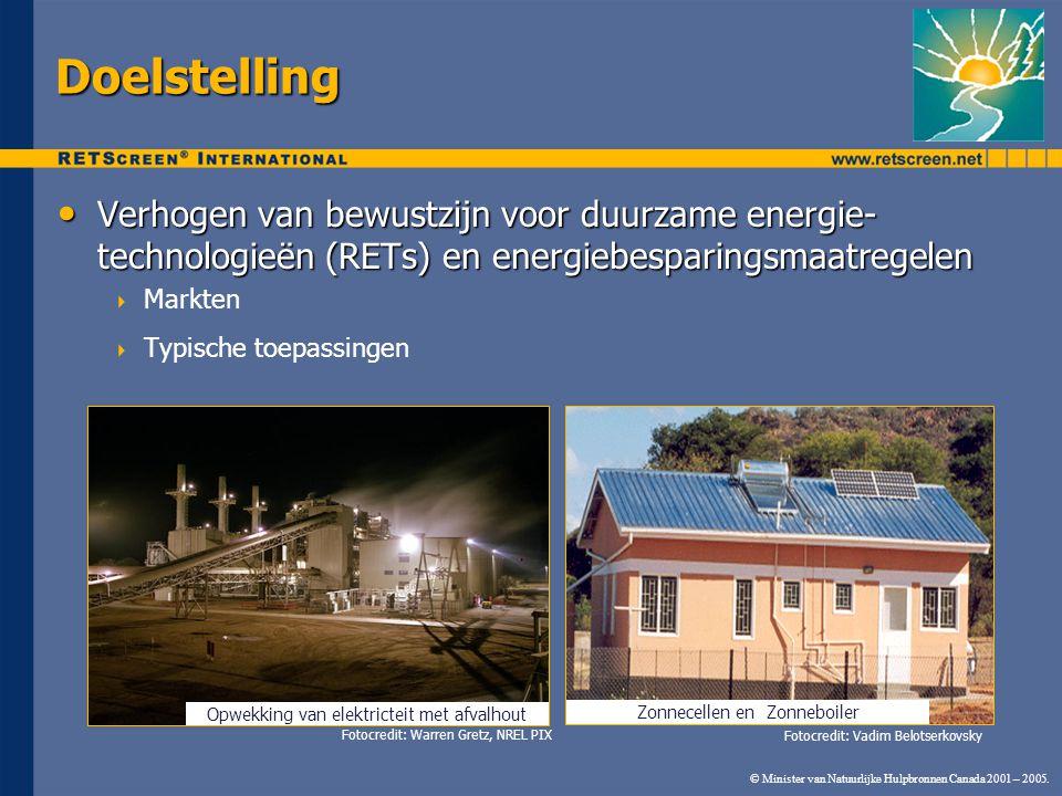 Opwekking van elektricteit met afvalhout Doelstelling Verhogen van bewustzijn voor duurzame energie- technologieën (RETs) en energiebesparingsmaatrege