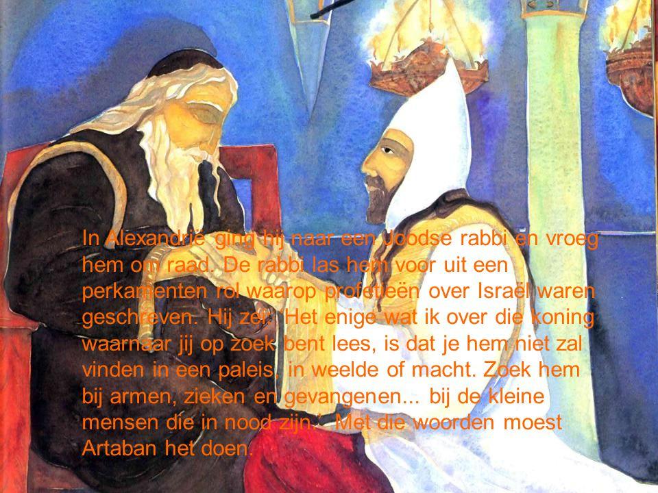 In Alexandrië ging hij naar een Joodse rabbi en vroeg hem om raad.