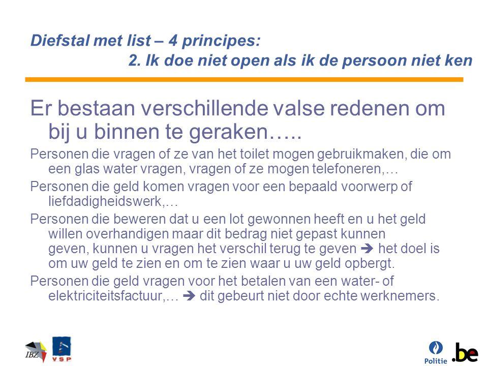 Diefstal met list – echte en valse werknemer van water- of elektriciteitsmaatschappij een echte werknemer van water, elektriciteit, gas,….