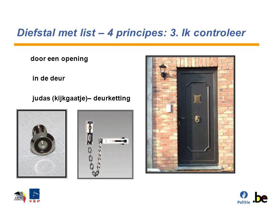 Diefstal met list – 4 principes: 3. Ik controleer door een opening in de deur judas (kijkgaatje)– deurketting