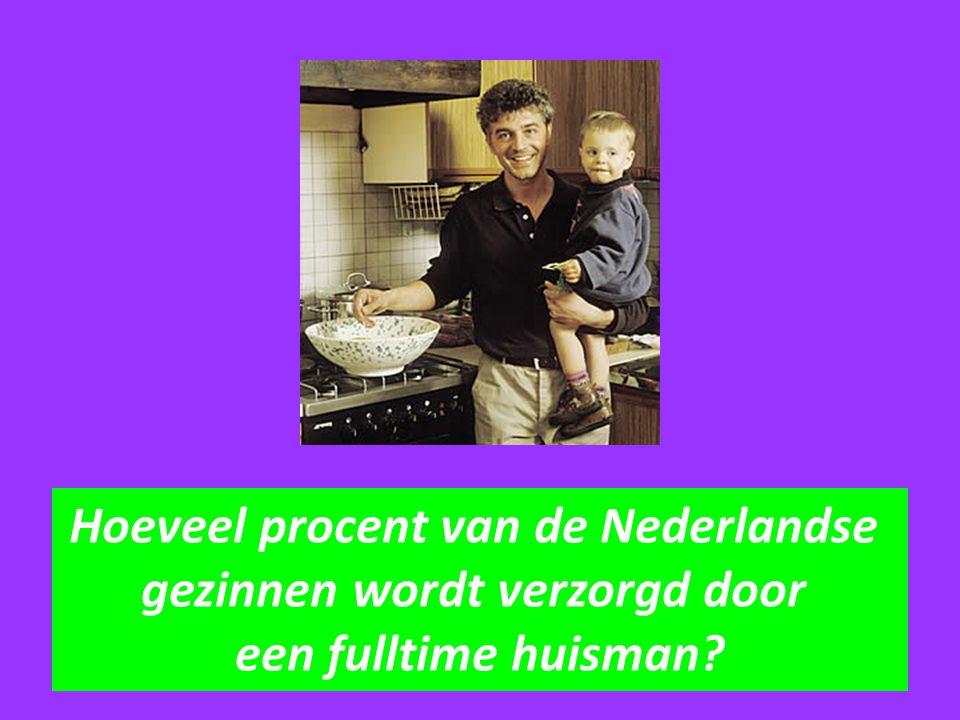 Hoeveel procent van de Nederlandse gezinnen wordt verzorgd door een fulltime huisman