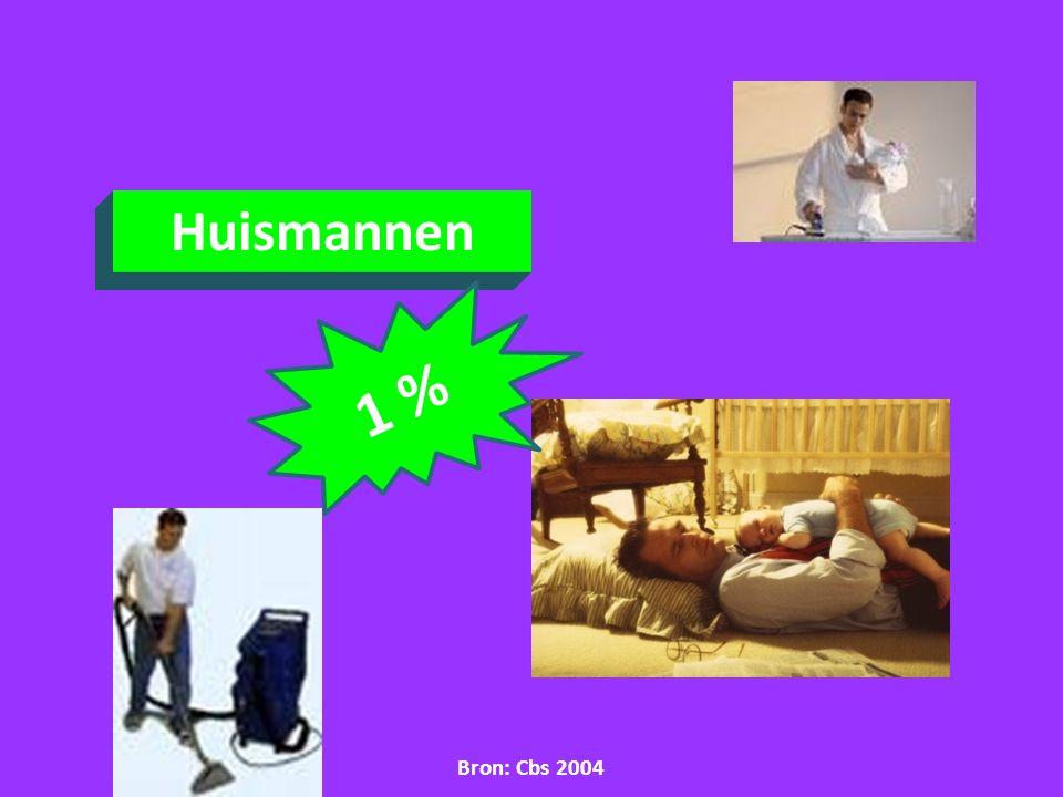 Huismannen 1 % Bron: Cbs 2004