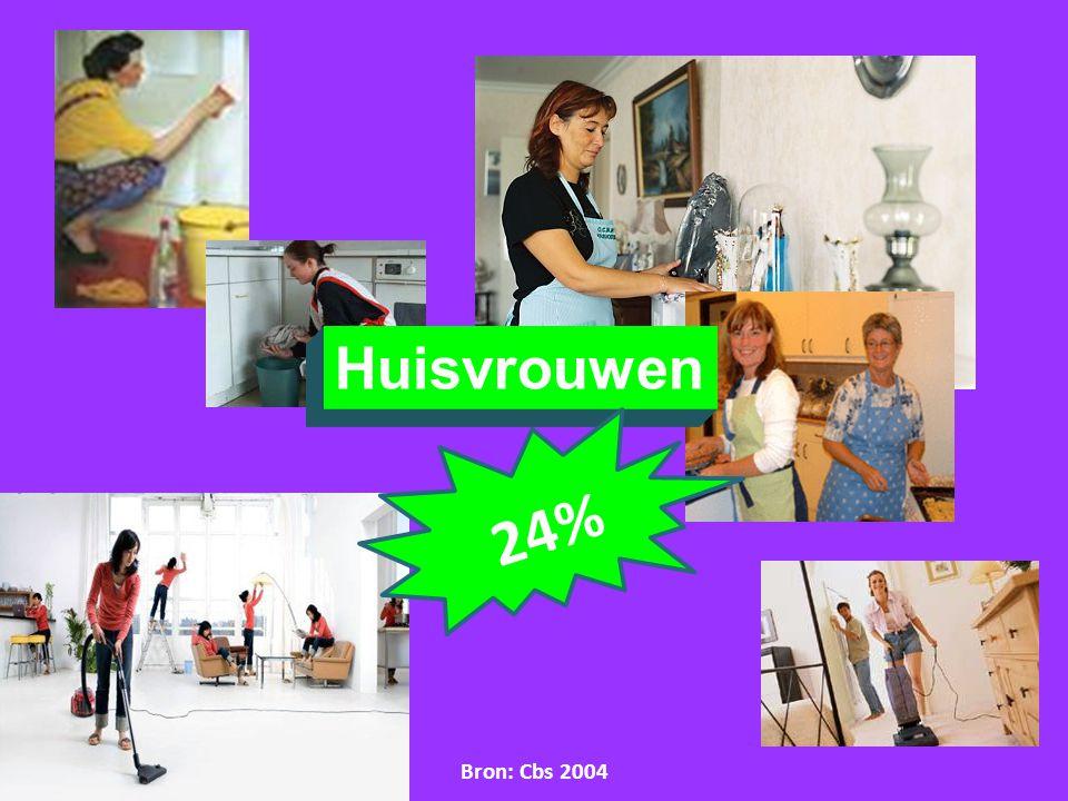 Huisvrouwen 2 4 % Bron: Cbs 2004