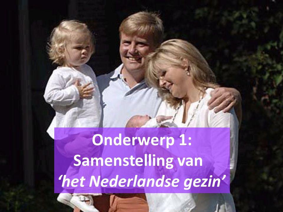 Onderwerp 1: Samenstelling van 'het Nederlandse gezin'