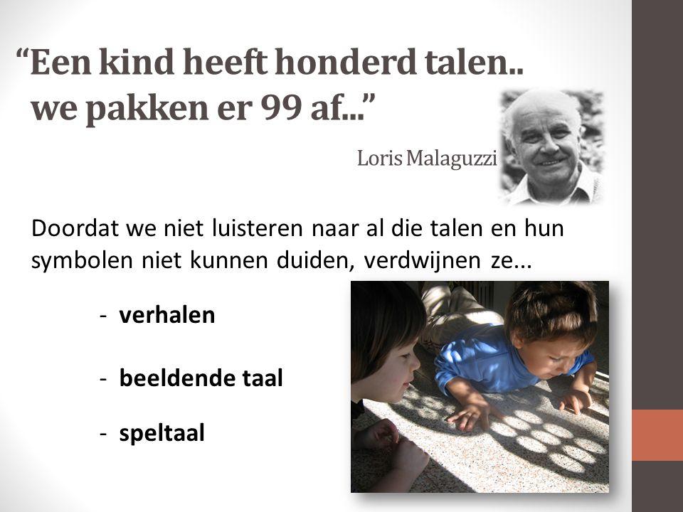 Een kind heeft honderd talen..