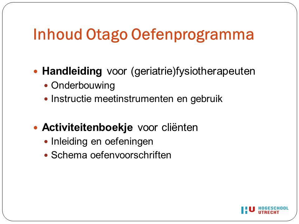 Discussie Kleine populatie (n = 15) Meetinstrumenten niet gevalideerd in NL De responsiviteit van de meetinstrumenten is (nog) niet onderzocht Cliënten kregen ook Ft.-behandeling ( confounding ).