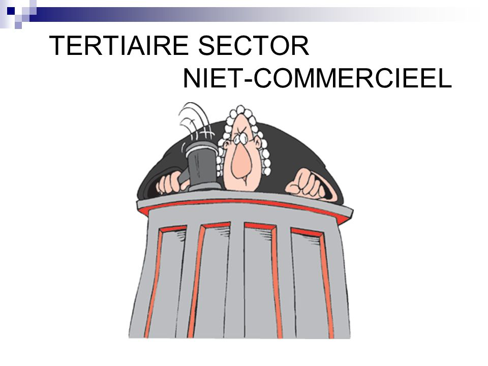 TERTIAIRE SECTOR NIET-COMMERCIEEL