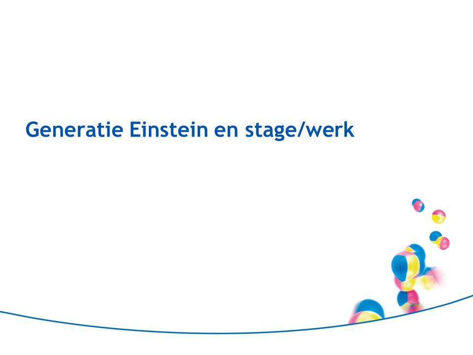 Generatie Einstein en stage/werk