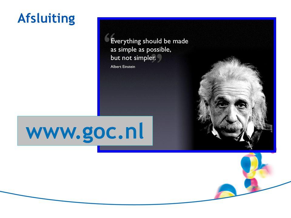 Afsluiting www.goc.nl