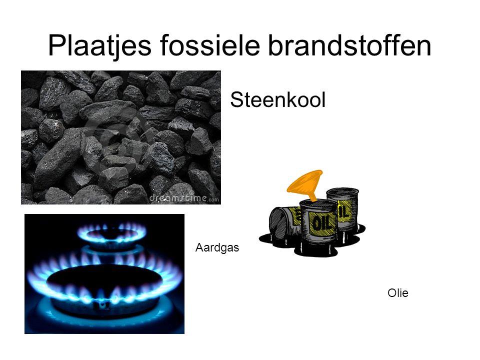 Plaatjes fossiele brandstoffen Steenkool Aardgas Olie