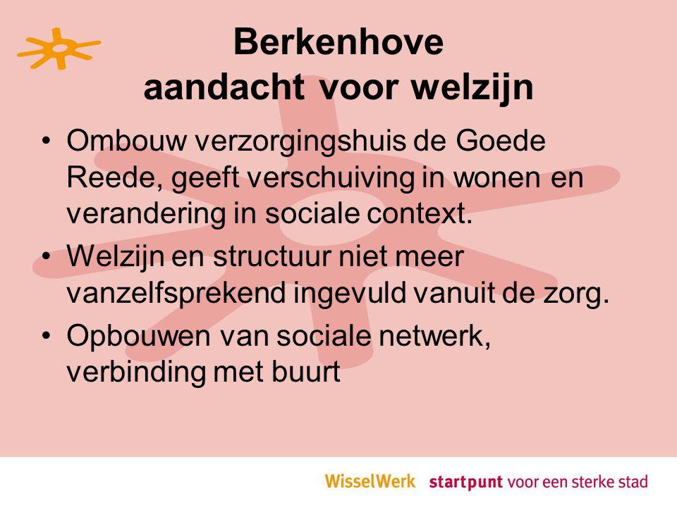 Berkenhove aandacht voor welzijn Ombouw verzorgingshuis de Goede Reede, geeft verschuiving in wonen en verandering in sociale context.
