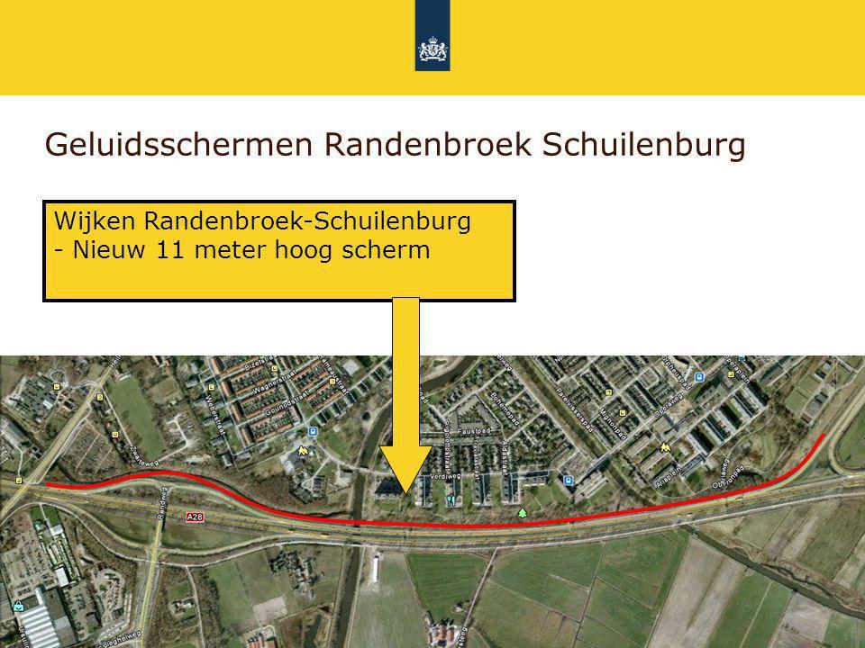 Rijkswaterstaat 30 Geluidsschermen Randenbroek Schuilenburg Wijken Randenbroek-Schuilenburg - Nieuw 11 meter hoog scherm