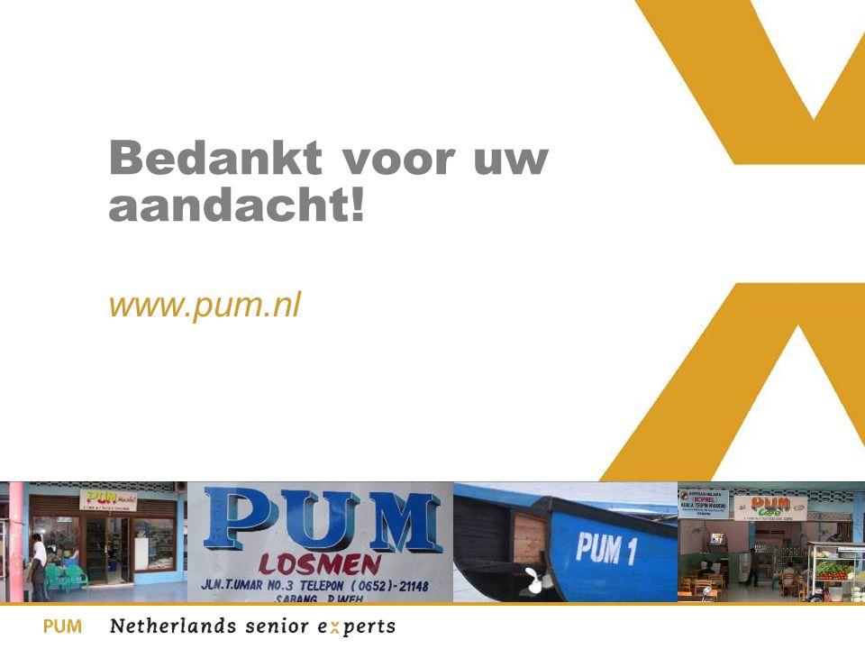 Bedankt voor uw aandacht! www.pum.nl