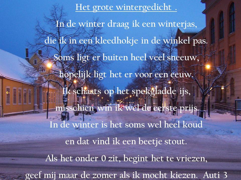 Het grote wintergedicht.