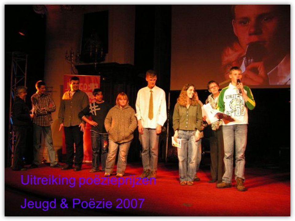 Uitreiking poëzieprijzen Jeugd & Poëzie 2007