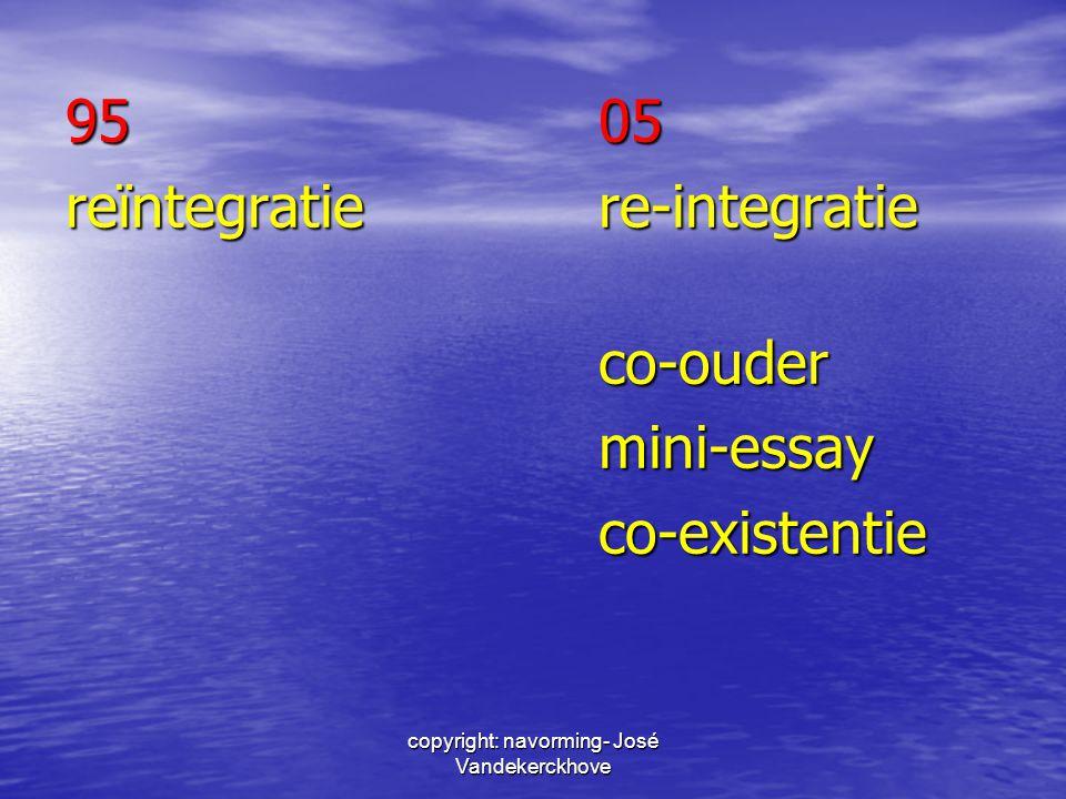 copyright: navorming- José Vandekerckhove 9505 reïntegratiere-integratie co-oudermini-essayco-existentie